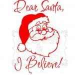 I Believe Santa Decal