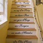 In this house We do. Stairs Vinyl Wall Art