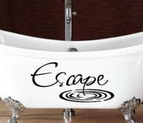 Escape Bathroom Vinyl Decal