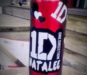 One Direction Personalized Water Bottle