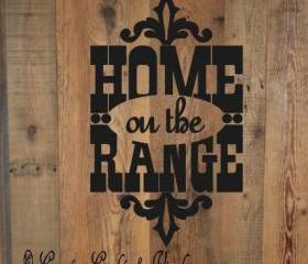 Home on the Range Vinyl Wall Art