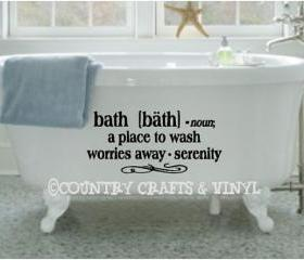 Bath Definition Vinyl Wall Decal