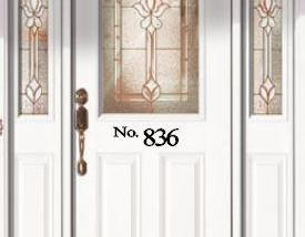 Personalized Door Address Decal