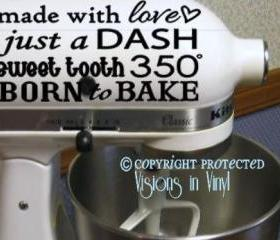 Kitchen Mixer Decal