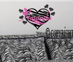 Zebra Personalized Name Decal